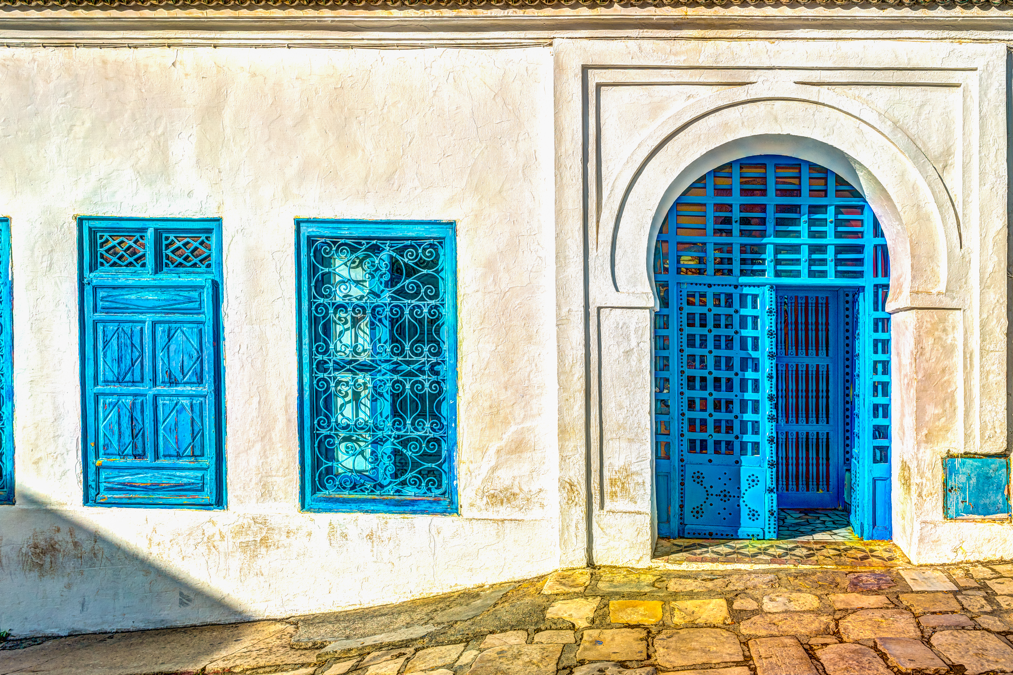 Colourful architecture in Tunisia