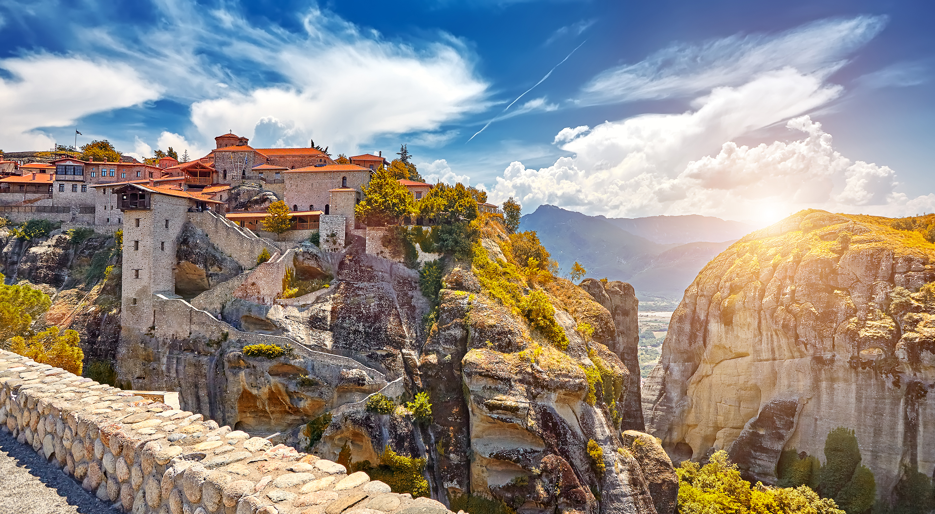The Great Monastery of Varlaam on the high rock in Meteora