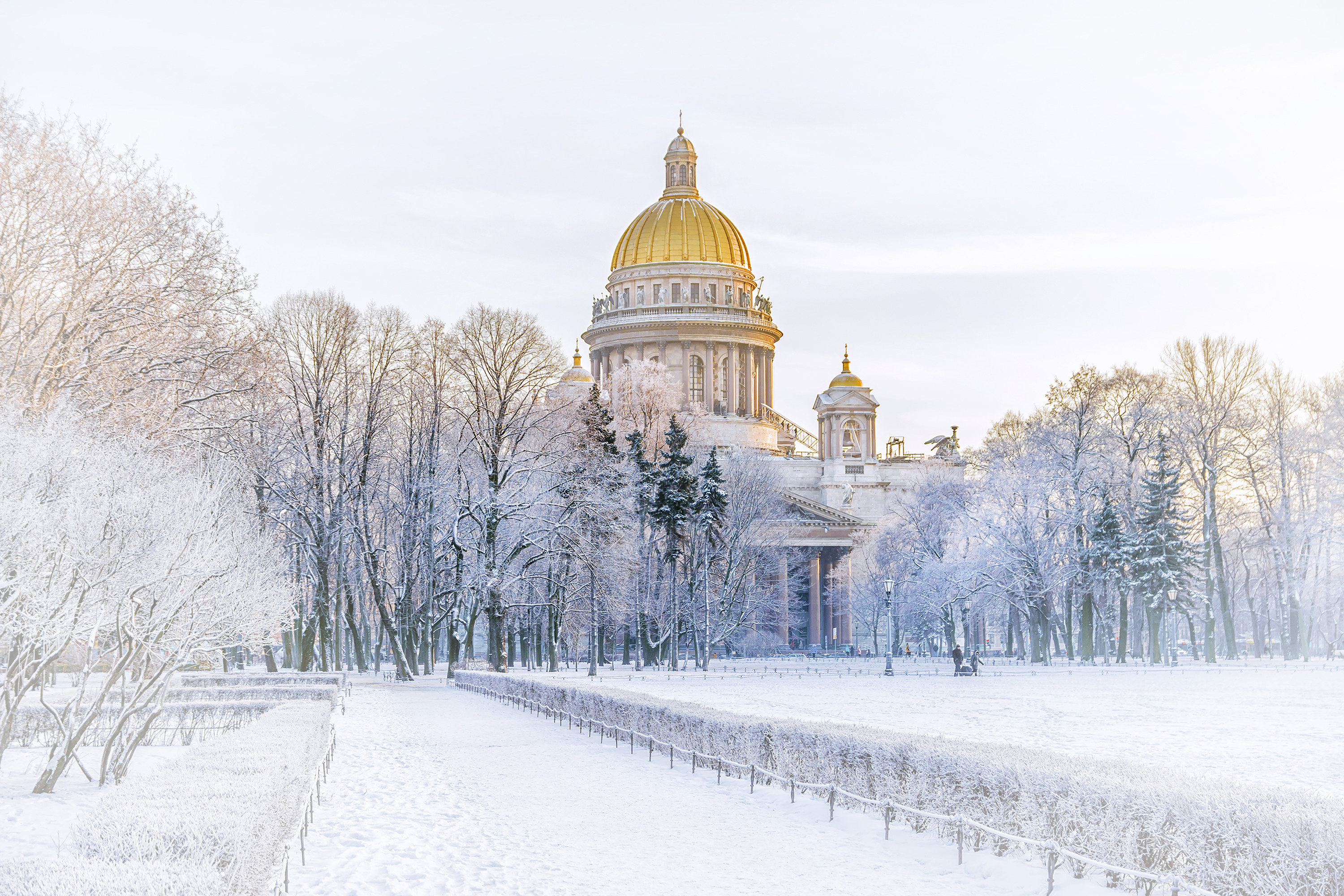 Winter View Of St Isaacs Cathedral To St Petersburg